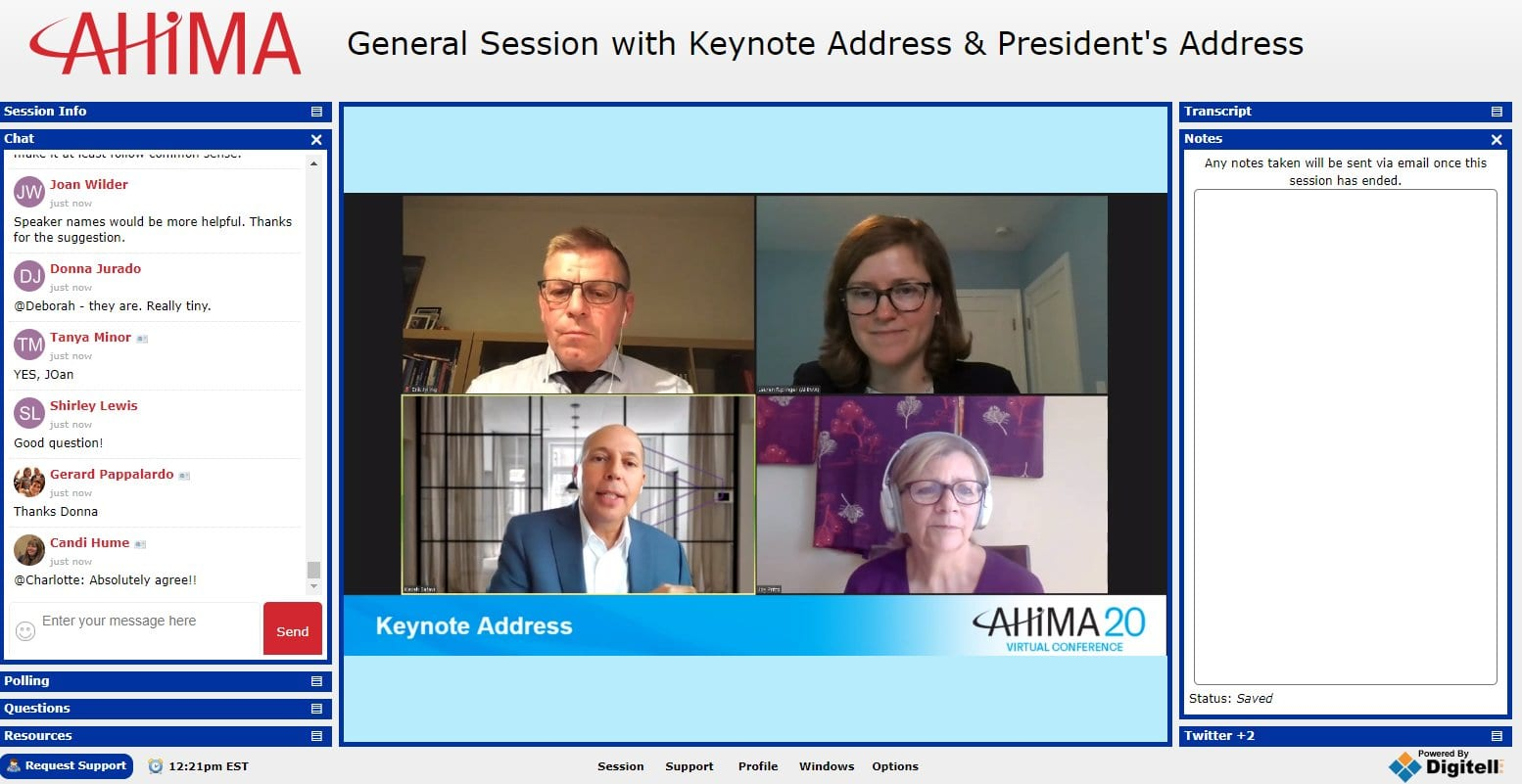 Data Protection and Privacy key theme at AHIMA20